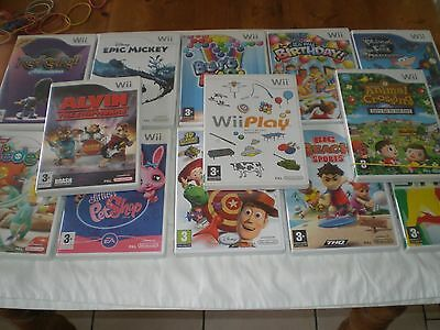13  NINTENDO Wii   GAMES  FOR AGE GROUP  3 +.