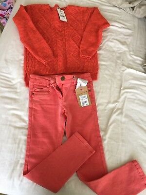 Next Jumper And Jeans Bundle Age 7 Brand New
