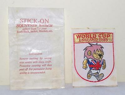 Vintage England 1966 World Cup Willie Stick On Patch Badge - New Unused