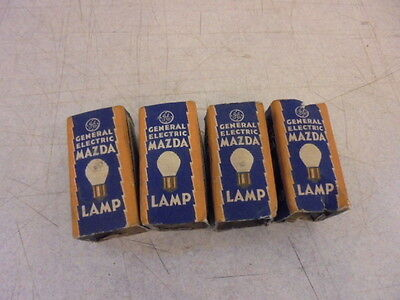 Lot of 4 Vintage NOS GE Mazda 1116 Auto Lamp Bulbs