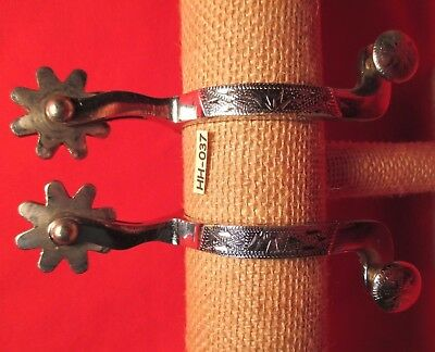 NEAR PRISTINE CR (Crockett) SILVER MOUNTED Ladies Spurs MAKE OFFER