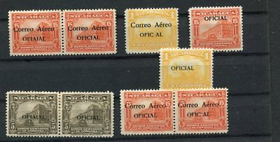 (OC407) Nicaragua MLH stamps error of fiaial signed AEREO
