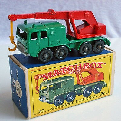 Matchbox Lesney Serie # 30  8-Wheel Crane In Ovp  Top Mint !!