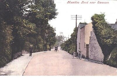 Wales: MUMBLES ROAD NEAR SWANSEA  posted  24th April 1915.