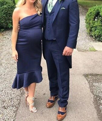Asos Navy Maternity Size 10 Dress - Wedding