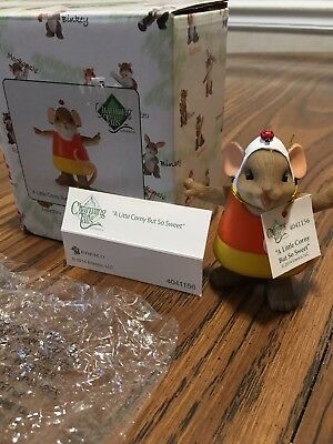 Charming Tails A Little Corny But So Sweet Figurine By Ensco. NIB. Mint cond.