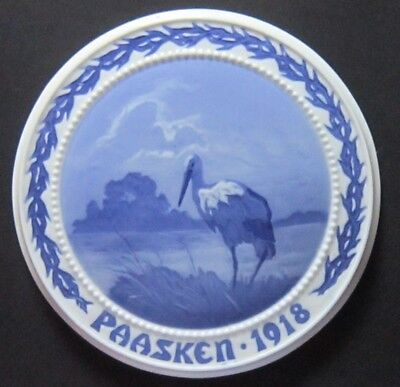 Bing and Grondahl The Stork on the Medow 1918, Easter plate