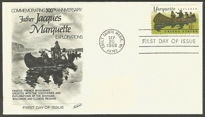 Us Fdc 1968 Jacques Marquette 6C Stamp Fleetwood First Day Of Issue Cover