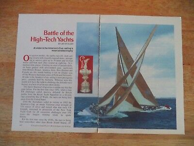 America's Cup  Vintage Magazine Article     8    6     O        C
