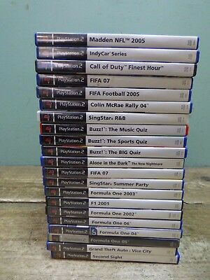 Job Lot Of 21 Various PS2 Playstation Games, Call Of Duty, Fifa, Buzz, Singstar