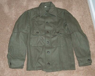 NEW WOOL OD GREEN SHIRT JACKET MADE in USA X-SMALL XS PERFECT FOR SCOUTS!