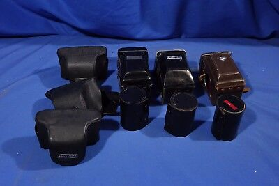 LOT of Assorted Yashica Cases for Cameras and Lenses (TLR & SLR) #L2579BP