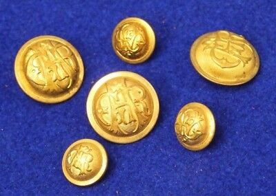 collection of 6 GAR (Grand Army of The Republic) Veteran's buttons