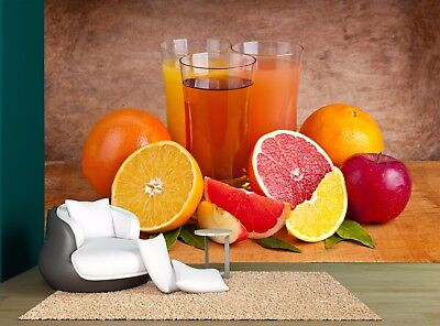 Oranges Fresh Juice Fruits Wall Mural Photo Wallpaper GIANT WALL DECOD