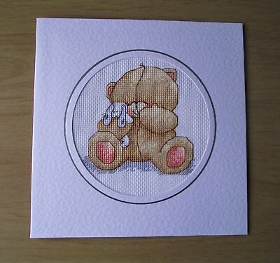 A Cross Stitch Greetings Card, Extra Large, Forever Friends Design