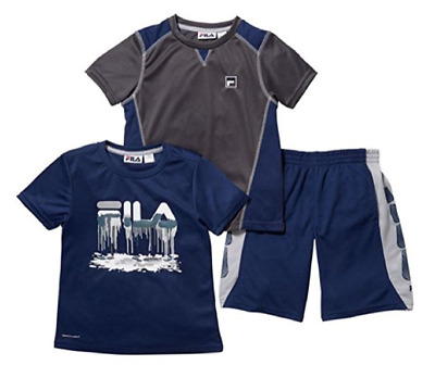 Fila Boys Painted Logo 3Pc Short Set Size 8