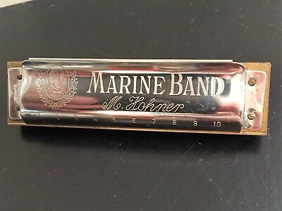 Vintage M. Hohner Marine Band #A440 Harmonica Key of A - Made in Germany