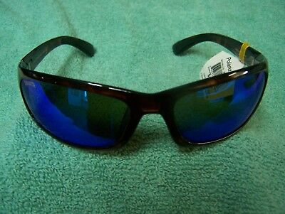 Calcutta Steelhead Tortoise Frame Blue Mirror Polarized Lens Sunglasses New