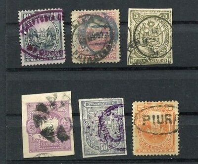 (OC440) Peru classic used stamps departements