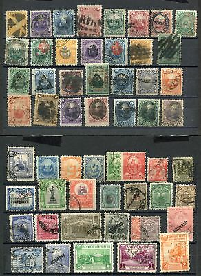 (OC443) Peru classic used stamps 2 pages till 1900