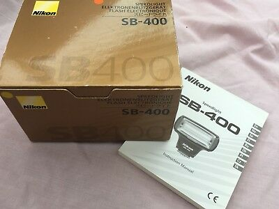Nikon Genuine SB-400 Speedlight Flash Instruction Book  Manual  User Guide box