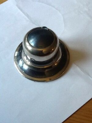 Vintage Inkwell - Silver Coloured And Enamel