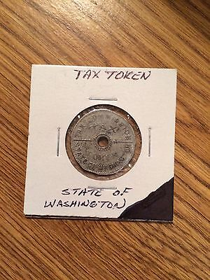1935 State of Washington tax Commission Sales Tax token