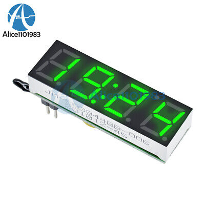 Green 3 in 1 LED DS3231SN Digital Clock Temperature Voltage Module Electronic