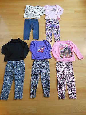 Girls Size 3T Lot Of 5 Pants & 5 Long Sleeved Tops Cute!