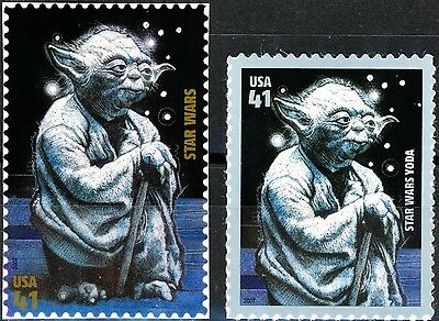 Yoda - Complete Set of 2 Scarce MNH US Postage Stamps Scott's 4143n and 4205