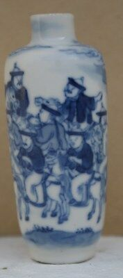 Superb Chinese Porcelain Blue and White Snuff Bottle Late 18th Early 19thC