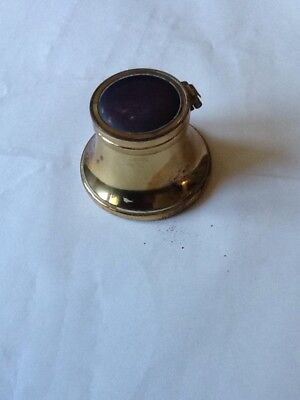 Vintage Gold Coloured Inkwell