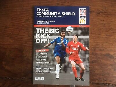 Charity Shield Aug 2006 Liverpool v Chelsea at Cardiff Mint