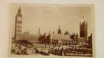 vintage 1922 houses of parliament real photograph postcard