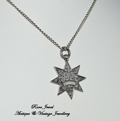 Antique Victorian Sterling Silver Pendant Star Unusual Fabulous Watch Fob