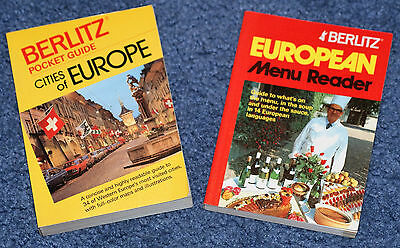 Berlitz Menu Reader (1989) And Guide To The Cities Of Europe (1986)