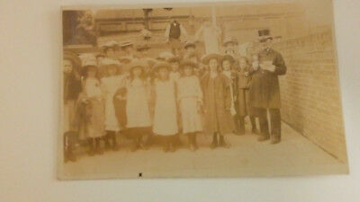 vintage early 1900s ryde bell ringer F N Broderick real photo postcard