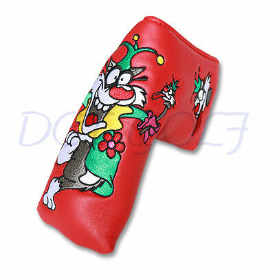 Red Wolf Golf Putter Headcover Blade Head cover For Scotty Cameron PU Leather