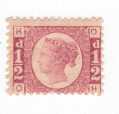 1870 SG 48 1/2d  PLATE 13  MINT HINGED, LETTERS  O H   2 SCANS