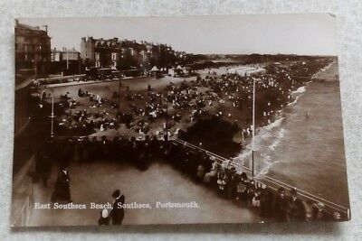 VINTAGE POSTCARD East Southsea Beach,Portsmouth,Hampshire,1928,Vtg,Old,Milton