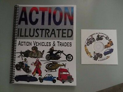 DRT Artworks Action Illustrated Vehicles & Trades Clip Art Vector EPS GREAT COND