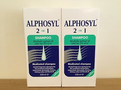 Alphosyl 2-in-1 Medicated Shampoo Itching Scalp & Dandruff Treatment 2 x 250ml
