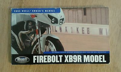 Buell Lightning XB9R official Factory Owners Manual  2002 2003