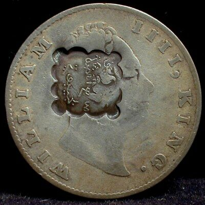 Djibouti Rupee Counter stamped on British India One Rupee