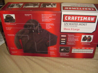 NEW Craftsman Men's Heated Jacket 9-43644 X-LARGE BATTERY & CHARGER INCLUDED