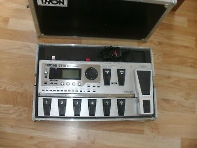 Boss Gt-10 Guitar Multi-Effects Processor  With Thon Metal Flight Case