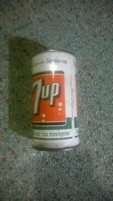 """Vintage 7 UP  7UP Steel Can Flat Top Can w/ Vanity Top """"FRESH UP"""""""