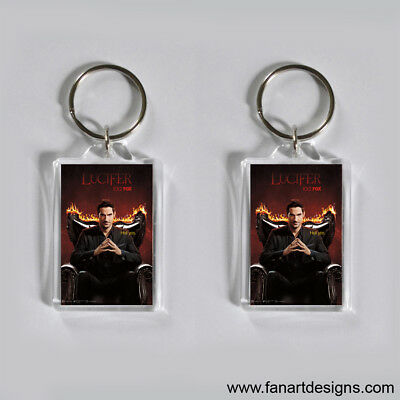 Lucifer - Tom Ellis - Lauren German -  Photo Keychain #2