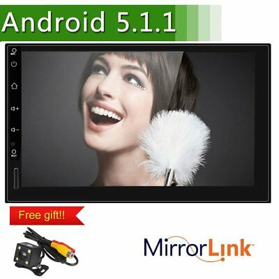 "7 ""TFT 2 DIN Android 5.1 GPS Bluetooth Navigation Auto Stereo Player WIFI NEW DE"
