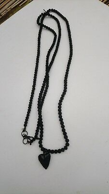 old hand carved beads necklace